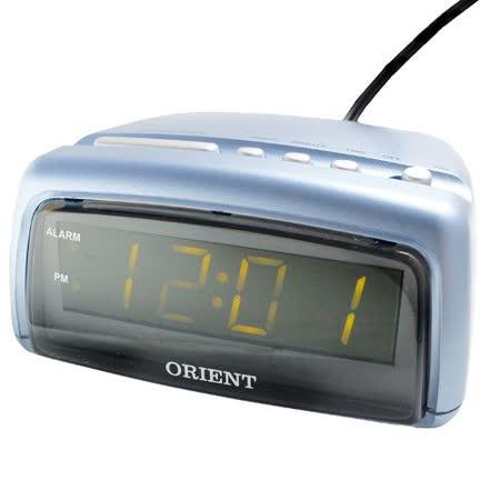 (東方ORIENT)插電式電子鬧鐘AD001-藍