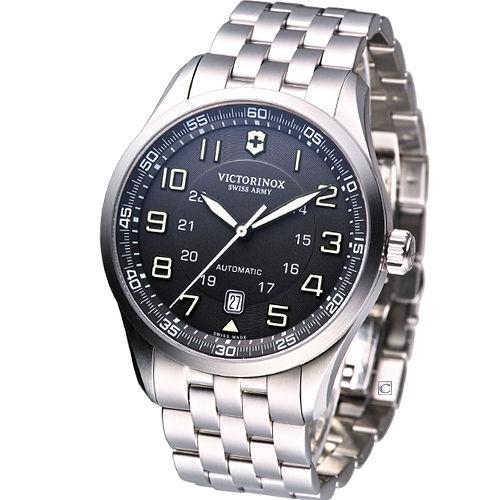 Victorinox Airboss 瑞士維氏 飛行家系列腕錶-(VISA-241508)黑面
