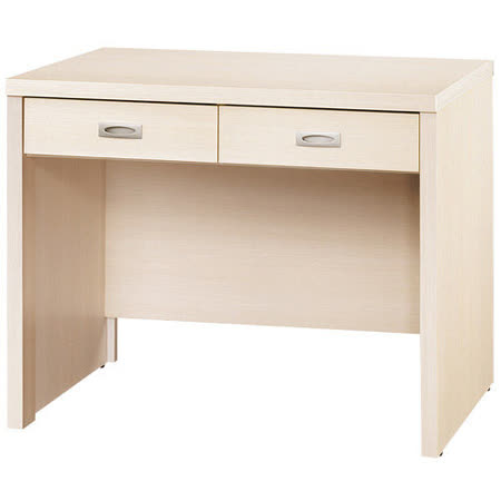 《愛比家具》喬美德白橡木3尺雙抽書桌(白橡木色)