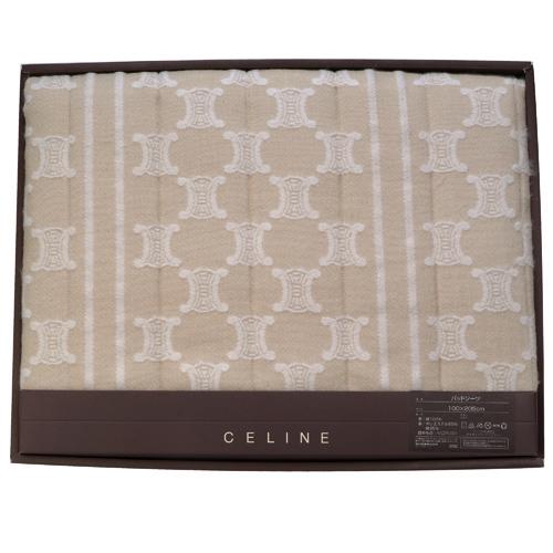 CELINE 經典mini BLASON LOGO萬用蓋毯禮盒-駝色