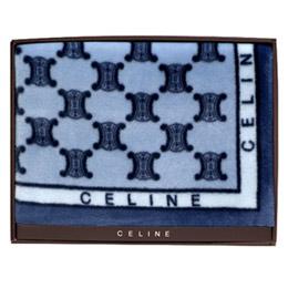 CELINE 首席BLASON LOGO漸層雪綿蓋毯禮盒(雙人)-藍