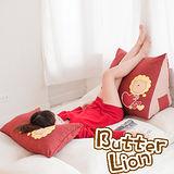 【奶油獅】台灣製造~心心相印三角靠墊(可當抬腿枕)(紅)(一入)