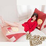 【奶油獅】台灣製造~心心相印三角靠墊(可當抬腿枕)(二入)