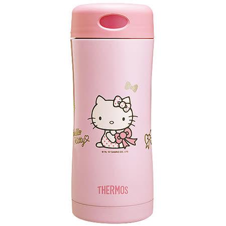 【THERMOS膳魔師】Hello Kitty雙層真空保溫杯瓶400ml-粉色PK