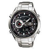 CASIO EDIFICE 科技精英勁速雙顯賽車錶(黑面液晶)