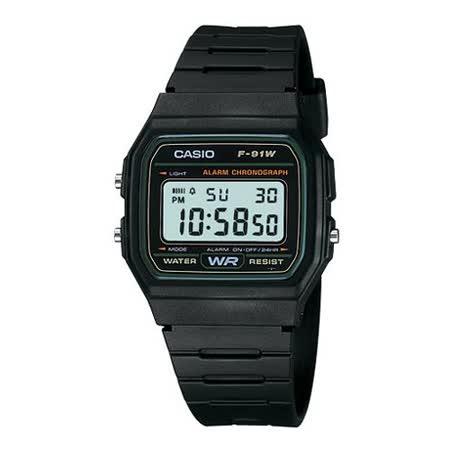CASIO 復古潮流魅力電子錶(綠框)