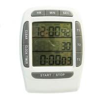 PUSH!嚴選 三組同步顯示倒正數計時器時鐘碼錶