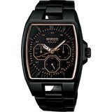 WIRED HYBRID日雜時尚腕錶(V14J-0BA0SD)-玫塊金/IP黑/37x38mm