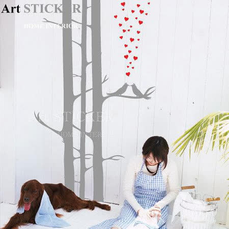 Art STICKER璧貼 。 Love Birds (T021)
