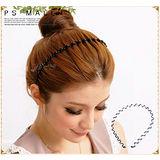 時尚波浪髮箍 髮飾髮圈日韓歐美時尚最愛 鐵髮箍 4入