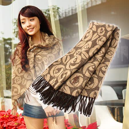 【私心大推】gohappy 購物網YSL 凡爾賽玫瑰大LOGO羊毛披肩(咖啡)評價怎樣來 愛 買 最 划算