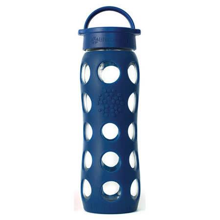 美國唯樂Lifefactory 繽紛彩色玻璃水瓶-平口650ml深藍 LF230002