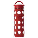 美國唯樂Lifefactory 繽紛彩色玻璃水瓶-平口650ml紅色 LF230001