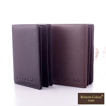 【Roberta Colum】法國荔枝紋軟牛皮多功能名片夾(共2色)