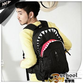 【Bag school 包學院】達人款透氣網布大容量鯊魚後背包