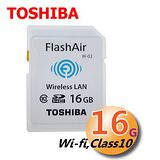 TOSHIBA 東芝 FlashAir 16GB Wi-fi SDHC CLASS10 記憶卡(平輸)