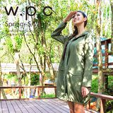 日本狂賣【w.p.c.】束口綁繩款。時尚雨衣/風衣(R1003)-橄欖綠