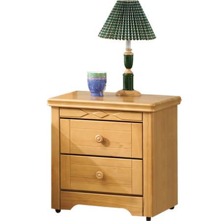 《愛比家具》實木檜木思比床頭櫃