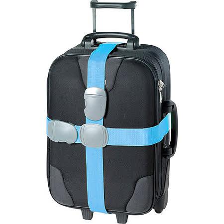 《GO TRAVEL》Double 十字型行李綁帶(藍)