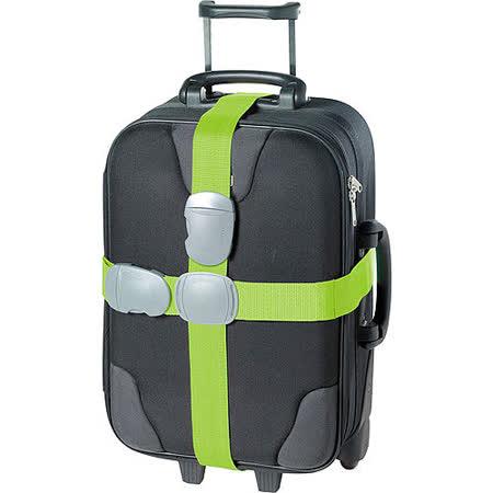 《GO TRAVEL》Double 十字型行李綁帶(綠)