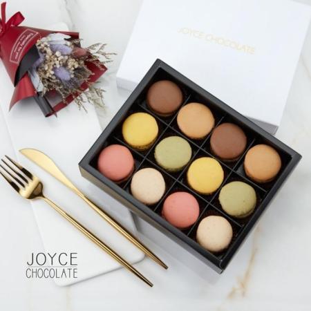 【12入禮盒】JOYCE巧克力工房-【法國空運新鮮直送-馬卡龍禮盒】