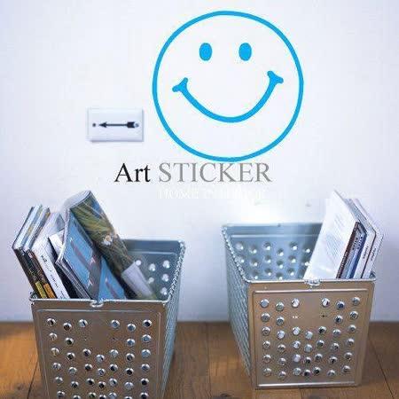 Art STICKER壁貼 。 笑臉Smile (W017)