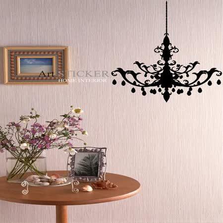 Art STICKER壁貼 。The chandelier (W050)