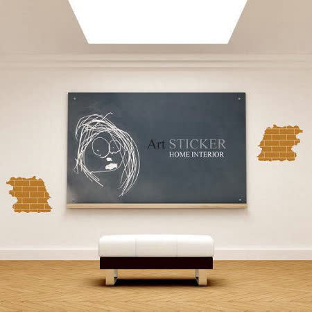 Art STICKER壁貼 。The bricks (W060)