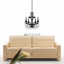 Art STICKER璧貼 。The new chandelier (W061)