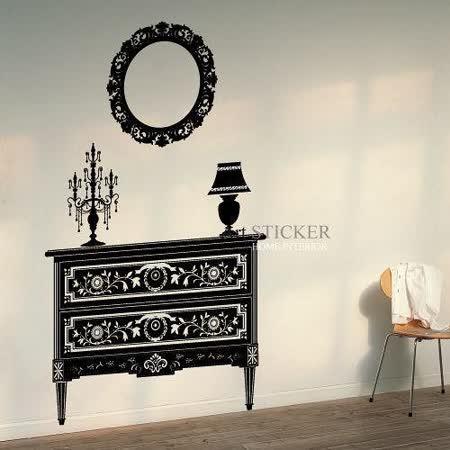 Art STICKER壁貼 。 Antique furnitures (W065)