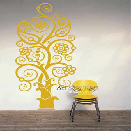 Art STICKER璧貼 。 Antique tree (W066)