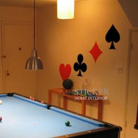 Art STICKER壁貼 。 Poker (W067)