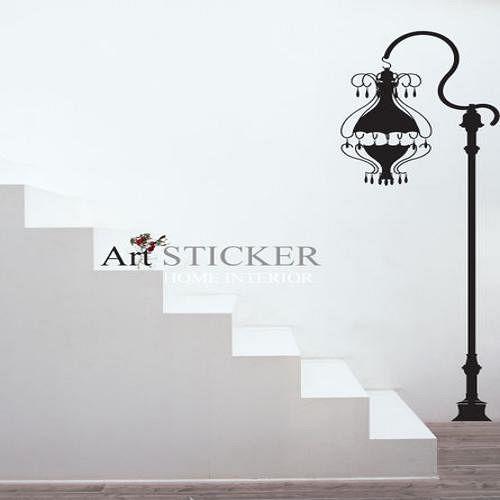 Art STICKER壁貼 ~ Antique street light ^(W068^)