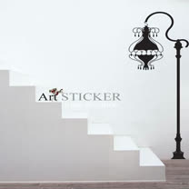 Art STICKER壁貼 。 Antique street light (W068)
