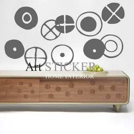 Art STICKER璧貼 。 Modern rounds (W071)