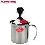 CafeDeTiamo 雙層濾網 不鏽鋼奶泡器 400cc (HA1529)