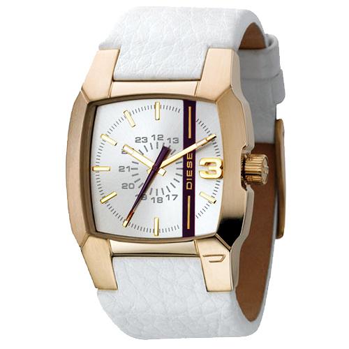 DIESEL 風暴瀑布立體面腕錶(DZ1298)-白