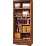 《顛覆設計》醉愛原味2.6尺開放二抽實木書櫃