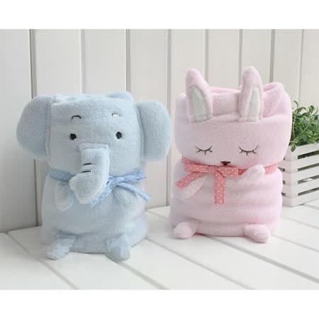 可愛動物造型毯/嬰兒蓋毯/午睡毯/電視毯 約110*85cm (兩入)
