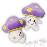 彩虹森林系列-磨菇寶寶12吋絨毛電繡填充玩偶-紫