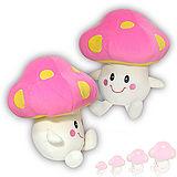 彩虹森林系列-磨菇寶寶12吋絨毛電繡填充玩偶-粉紅