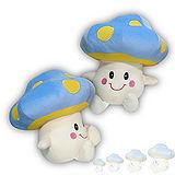 彩虹森林系列-磨菇寶寶12吋絨毛電繡填充玩偶-藍