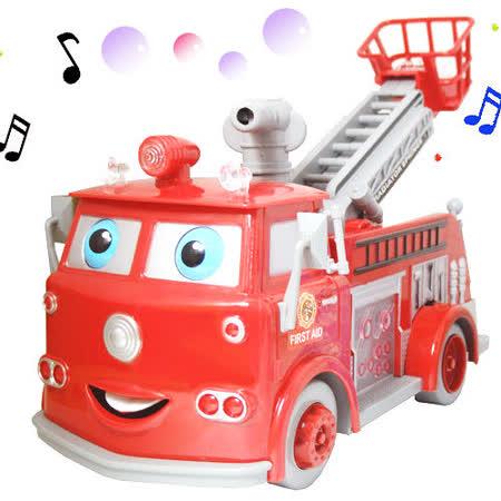 【音樂、電動】發射泡泡消防車