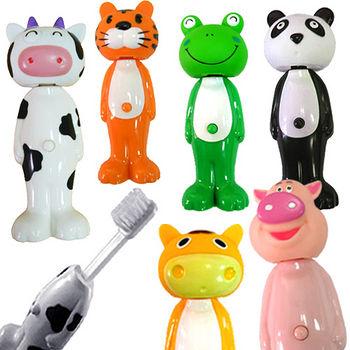 可愛動物自動牙刷3入(款式隨機)