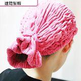 超強吸水的直筒型鬆緊式乾髮帽 乾髮巾【H101】