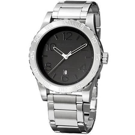 【網購】gohappy 購物網BAKLY 撼動系列德意防衛軍數字腕錶(黑)效果大 遠 板