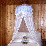 《格藍傢飾》蕾絲單人床睡簾-水藍