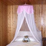 《格藍傢飾》蕾絲單人床睡簾-粉紅