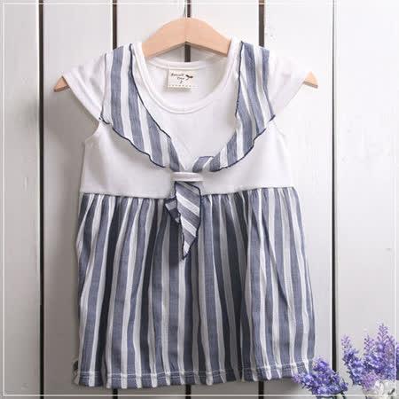 (購物車)魔法Baby ~氣質系水手領洋裝~女童裝~時尚設計童裝~k19292