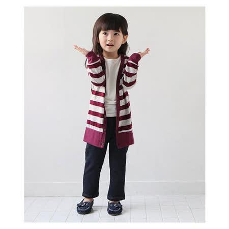 (購物車)魔法Baby ~日單條紋細毛圈薄長袖開襟衫~女童裝~k19162